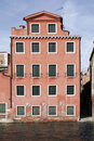 Venice, Italy - Water Front Facade Stock Photography