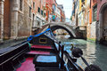 Venice june gondola on the venetian canal on june in venice italy Royalty Free Stock Images