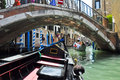 Venice june gondola on the venetian canal on june in venice italy Stock Photo