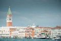 Venice from the laguna a view of with st mark campanile Stock Images