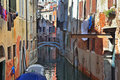 The Venice. The laundry drying on clothesline Stock Images