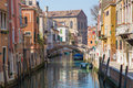 Venice look form bridge ponte dei gesuiti to canal Royalty Free Stock Images