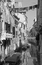 Venice look form bridge ponte dei scudi bridge to canal Stock Image