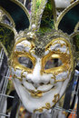 Venice mask with clipping path Royalty Free Stock Photo