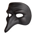 Venice mask traditional with big nose isolated over the white background Stock Photo