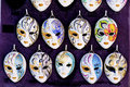 Venice masks colorful figures for souvenir Royalty Free Stock Images