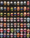 Venice masks many colorful souvenirs of festival Royalty Free Stock Image
