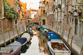 Venice at morning dorsoduro is the most picturesque district of italy Stock Photos