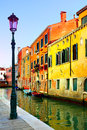 Venice narrow canal in italy Royalty Free Stock Images
