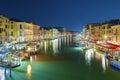 Venice night scene of italy Stock Image