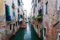Venice old channel in millennial Royalty Free Stock Photos