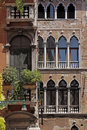 Venice, palace with facade detail, Italy Stock Images