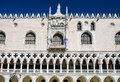 Venice palazzo ducale facade italy detail with doges palace built in venetian gothic style in piazza san marco Royalty Free Stock Photos
