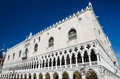 Venice palazzo ducale facade italy detail with doges palace built in venetian gothic style in piazza san marco Stock Photos