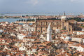 Venice panorama view over the city of water in italy Royalty Free Stock Photos