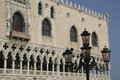 Venice piazza san marco the doge s palace detail veneto italy Royalty Free Stock Images