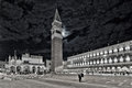 Venice Piazza San Marco at night Royalty Free Stock Photo