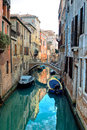 Venice reflections and surreal atmosphere of the canals of Stock Photos