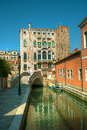 Venice reflections and surreal atmosphere of the canals of Stock Photography