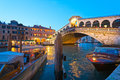 Venice, Rialto Bridge. Stock Image