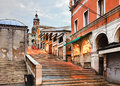 Venice Rialto Stairs Royalty Free Stock Photo