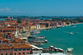 Venice roofs and harbor Royalty Free Stock Photography