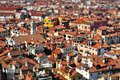 Venice roofs in italy with tilt shift lens effect a view of Stock Image