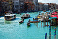Venice 's Grand Canal with Blue sky , Italy Royalty Free Stock Photo