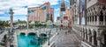 Venice`s landmarks replicas in Las Vegas Royalty Free Stock Photo