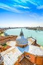 Venice san giorgio church dome giudecca canal aerial view italy landmark Royalty Free Stock Photography