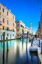 Venice san giorgio dei greci water canal and church campanile italy cityscape long exposure photography europe Stock Images