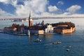 Venice with San Giorgio island, Italy Royalty Free Stock Photo
