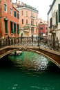 Venice small canal and bridge Royalty Free Stock Photography