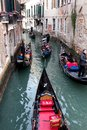 Venice some gondola in italy Royalty Free Stock Photos