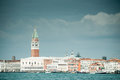 Venice with st mark campanile a view of from the laguna Stock Photo
