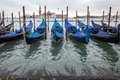 Venice - station of gondolas Royalty Free Stock Photo