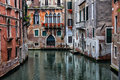 Venice street and canal of old hdr image Stock Photos