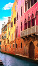 Venice street italy summer day Stock Photography
