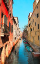 Venice street italy summer day Royalty Free Stock Photo