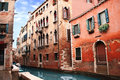 Venice street italy summer day Royalty Free Stock Photos