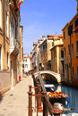 Venice street italy summer day Stock Image