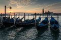 Venice sunrise the in italy Royalty Free Stock Photo