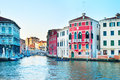 Venice at sunset grand canal italy Stock Images