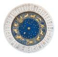 Venice tower clock dial cutout Royalty Free Stock Photo