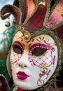 Venice tradtional carnival mask masquerade Stock Photos