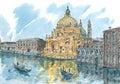Venice Veneto region, Italy at dusk