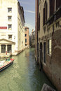 Venice view of the canals of Stock Photo