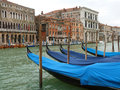 Venice a view of the grand canal with gondolas and boats Royalty Free Stock Photos