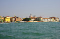 Venice view on houses of from sea italy Royalty Free Stock Photography