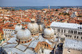Venice.View to San Marco Cathedral from campanille Stock Image